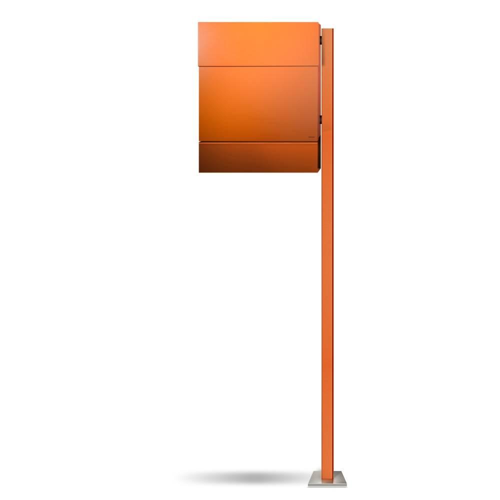 LETTERMAN 5 Briefkasten mit Pfosten orange