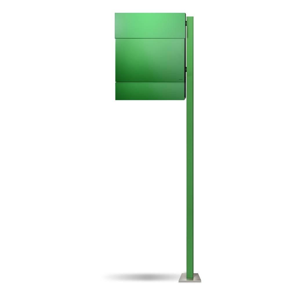 LETTERMAN 5 Briefkasten mit Pfosten grün