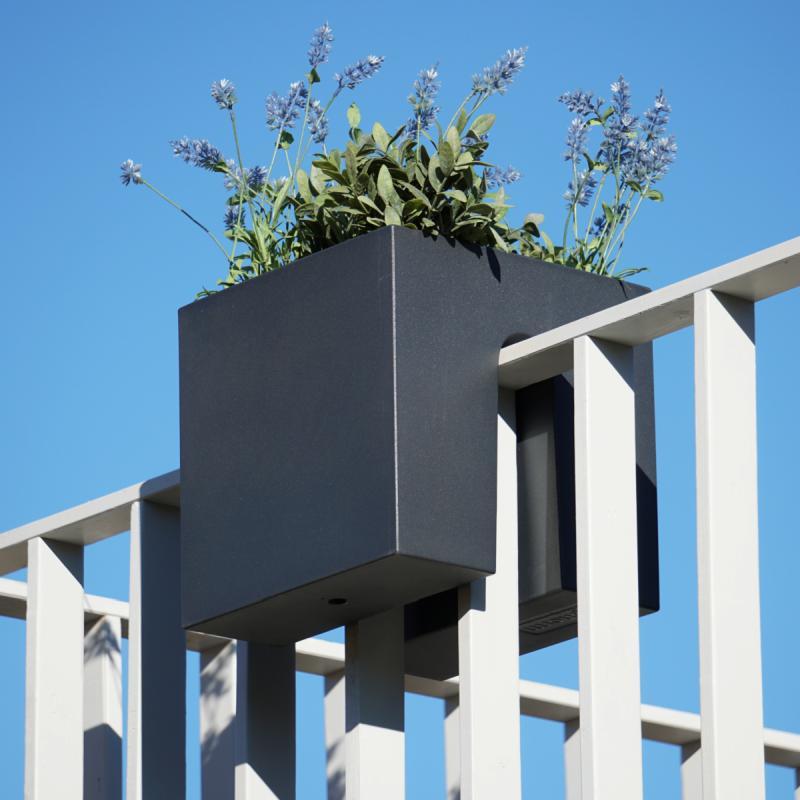 STECKLING CUBE Balkon Pflanzgefäß in graphit anthrazit