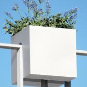 STECKLING CUBE Balkon Pflanzgefäß weiß
