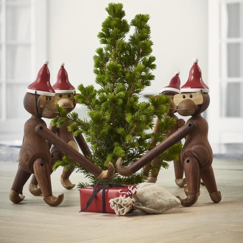 Kay Bojesen: Affe mit Weihnachtsmütze