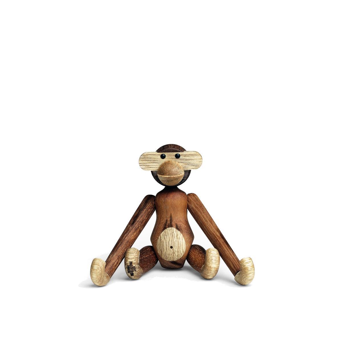Kay Bojesen: Holz Affe 9,5 cm, Teakholz/Limba, der Mini-Affe