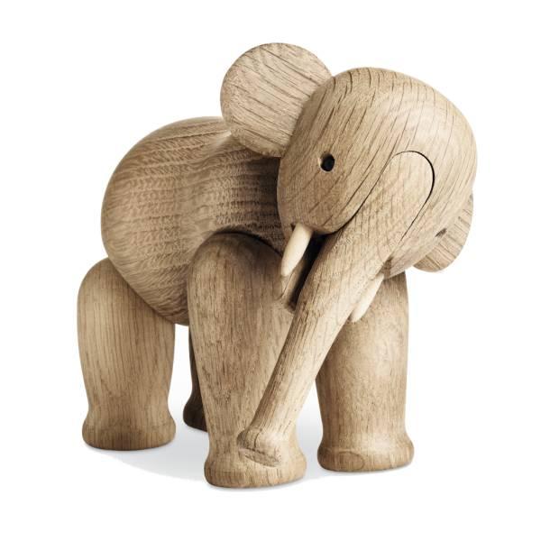 Kay Bojesen Elefant, 16 cm hoch, Eiche natur