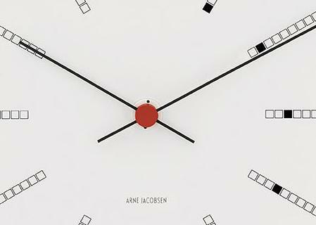 BANKERS CLOCK Wanduhr von Arne Jacobsen