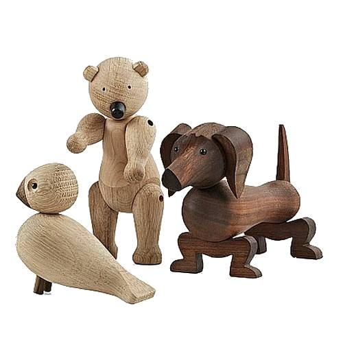 Ein Teil der Kay Bojesens Holztier-Familie