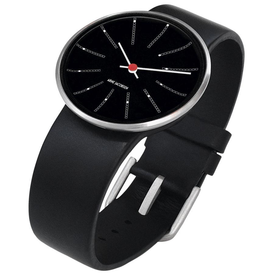 Arne Jacobsen Bankers Armbanduhr schwarz-schwarz
