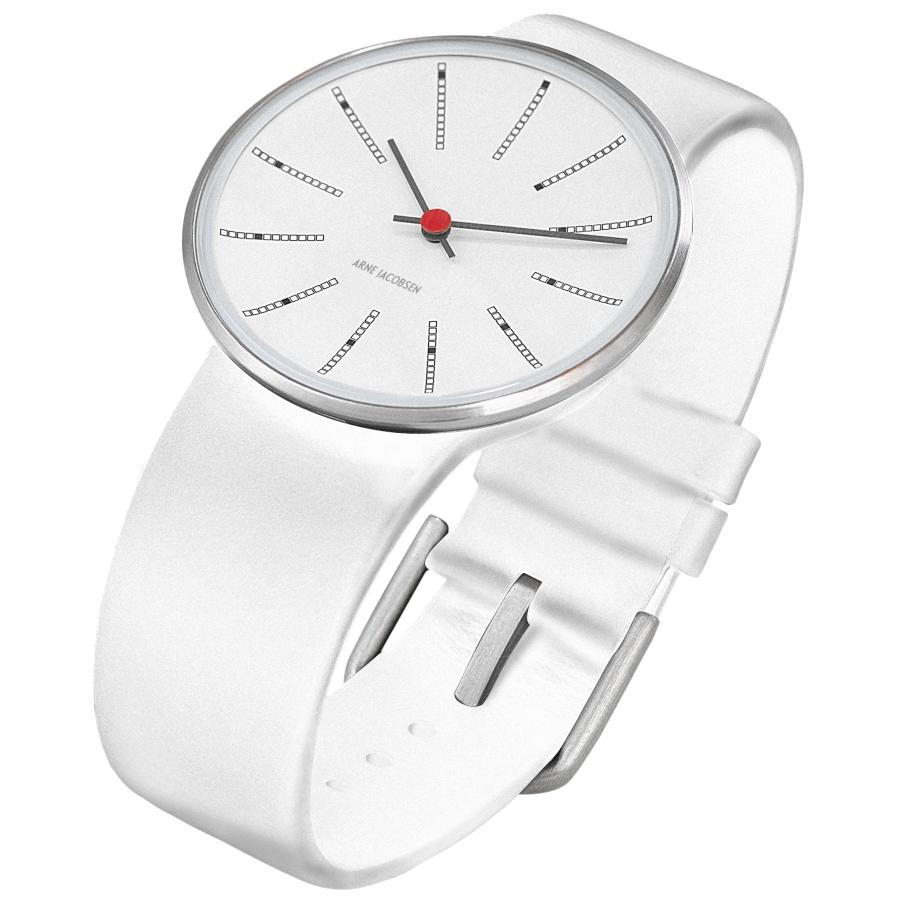 Arne Jacobsen Bankers Armbanduhr weiß-weiß