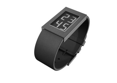 Watch I Armbanduhr black IP-coating small