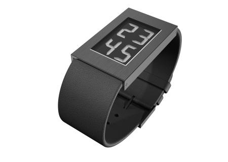 Watch I Armbanduhr black IP-coating large