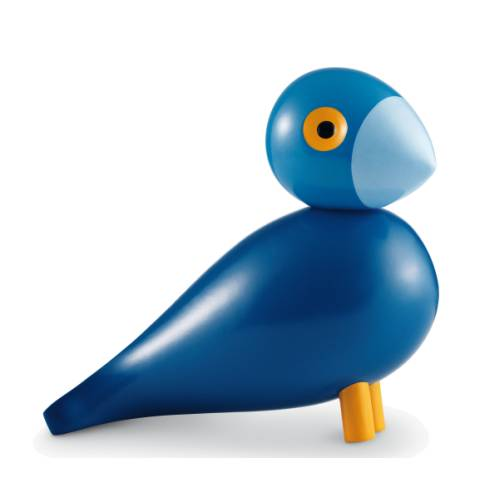 Singvogel Kay blau Holzvogel von Kay Bojesen