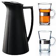 Isolierkanne Kunststoff plus 2 Grand Cru Hot Drink Gl�ser, Hersteller Rosendahl, Designer Rosendahl