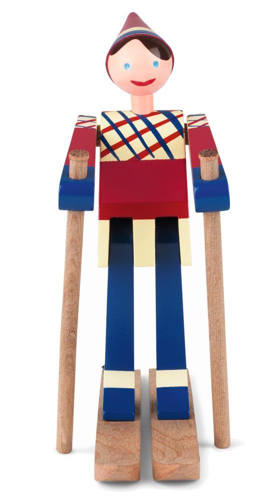 Kay Bojesen Skiläuferin Datti, rot/blau