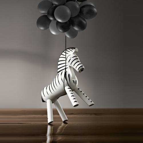 Kay Bojesen Zebra, Holz handbemalt