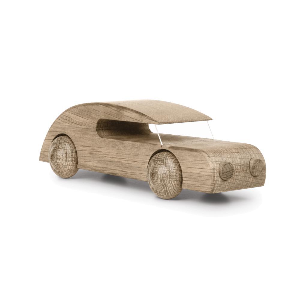 Kay Bojesen: Automobil Sedan groß, Buchenholz mit Plexiglasscheibe