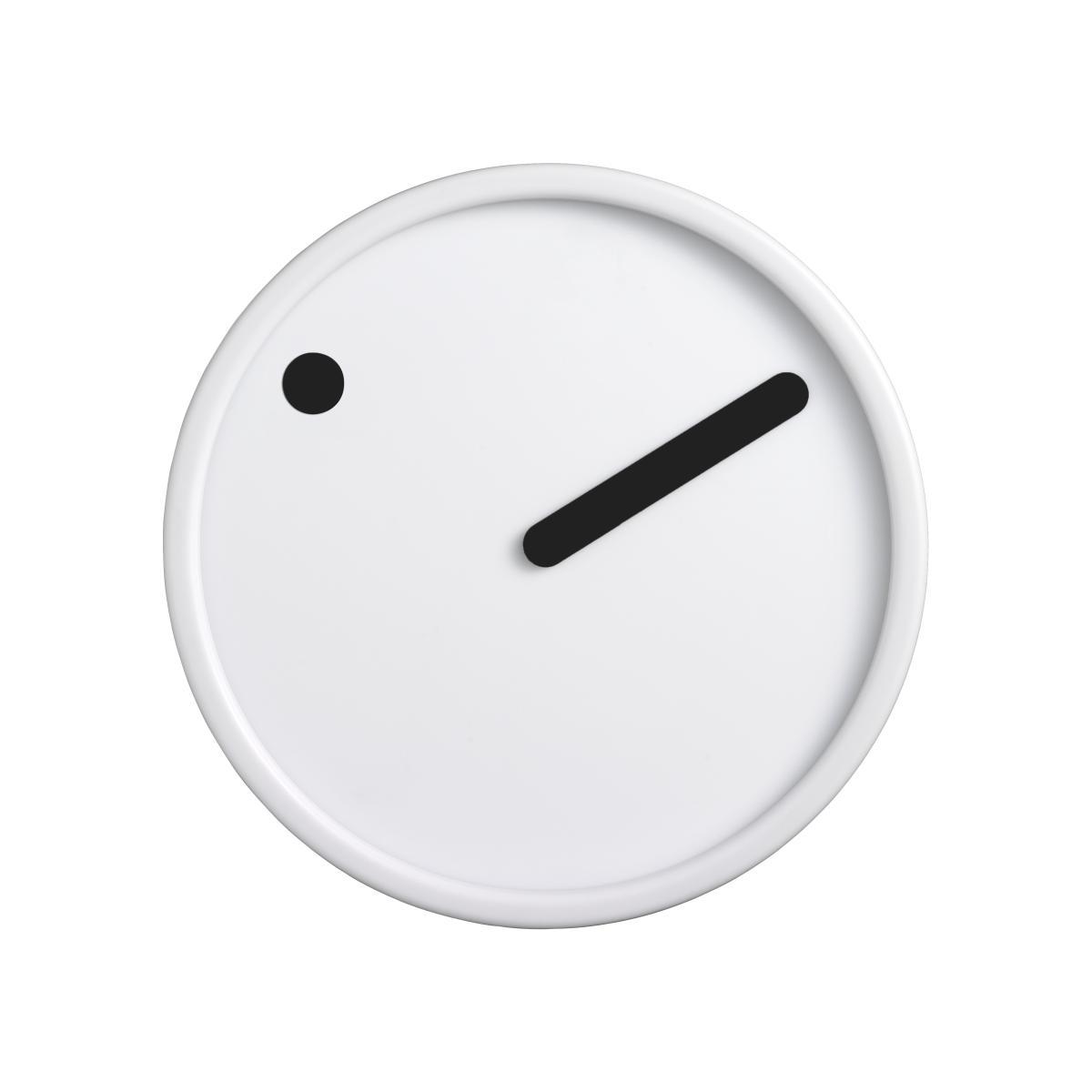PICTO Wanduhr 16 cm weiß mit schwarzen Zeigern