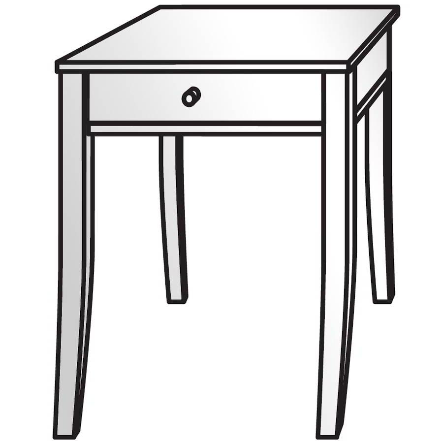 Montana Nachttisch mit Schublade, ohne Zwischenboden