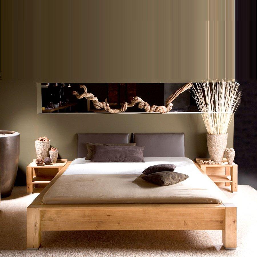 CAPO Bett 140 x 200 cm knorrige Eiche