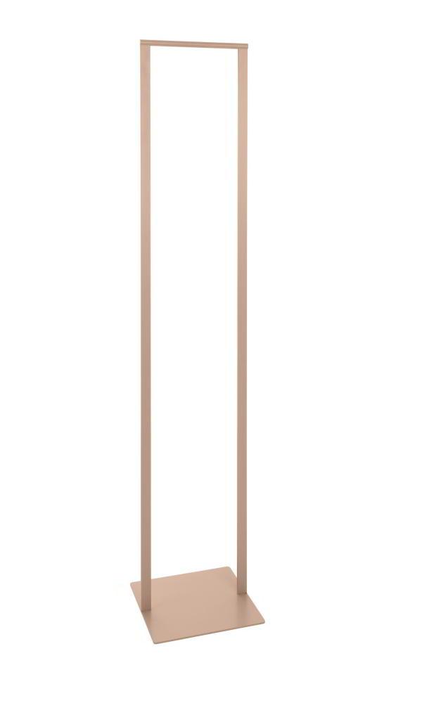 SLIM Standgarderobe 33 cm, Stahl geschweißt, pulverbeschichtet rosenholz