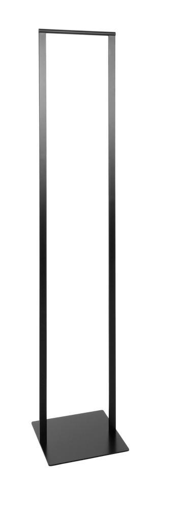 SLIM Standgarderobe 33 cm, Stahl geschweißt, pulverbeschichtet schwarz