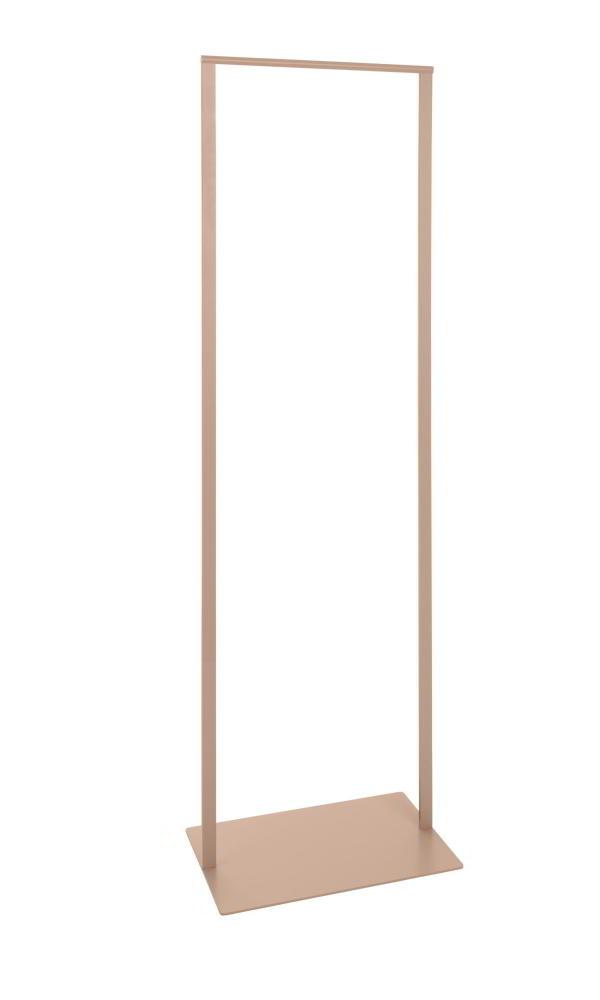 SLIM Standgarderobe 52 cm, Stahl geschweißt, pulverbeschichtet rosenholz