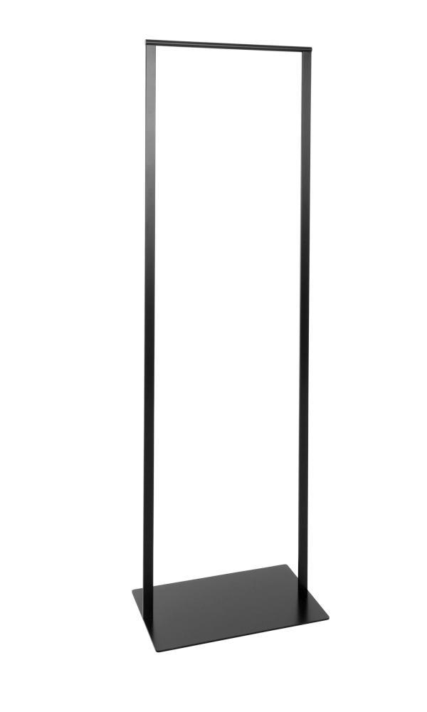 SLIM Standgarderobe 52 cm, Stahl geschweißt, pulverbeschichtet schwarz