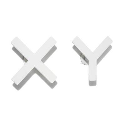 Haken X-Y Kleiderhaken weiß