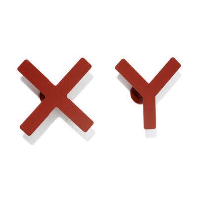 Haken X-Y Kleiderhaken kirschrot
