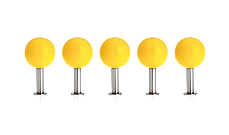 DOTS Garderobenhaken 5er-Set gelb