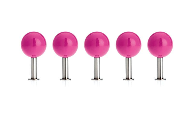 DOTS Garderobenhaken 5er-Set pink
