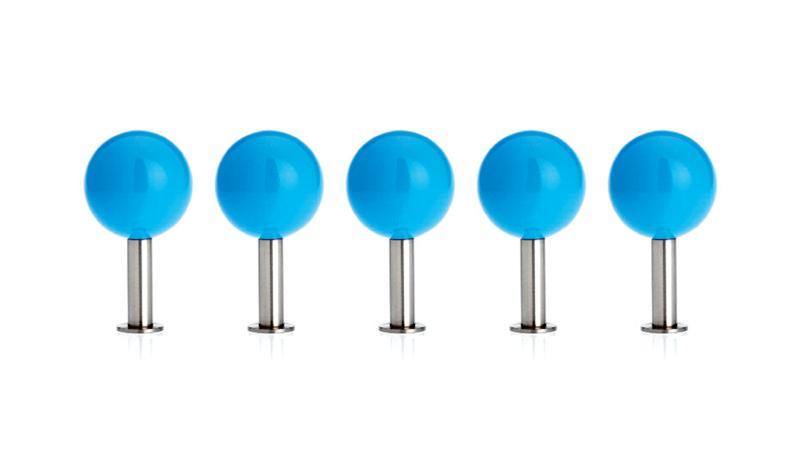 DOTS Garderobenhaken 5er-Set sky blau