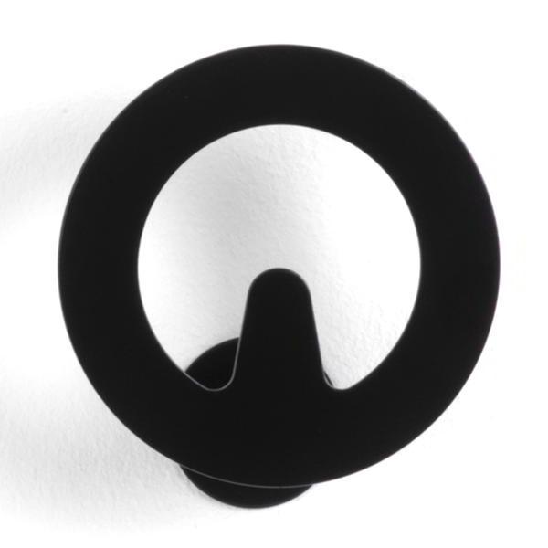 CIRCUIT Garderobenhaken, einzeln, schwarz