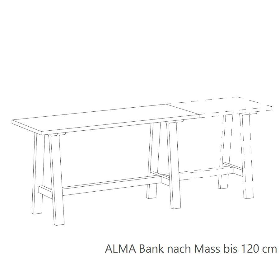 ALMA Bank Maßanfertigung bis 120 cm