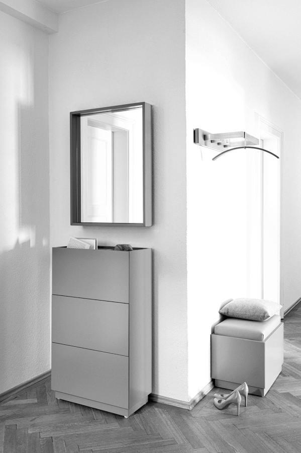 HESPERIDE Spiegel quadratisch mit Komode und Sitzbank