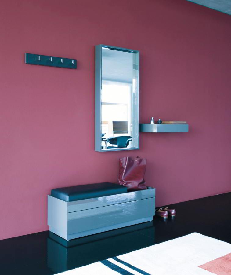 HESPERIDE Spiegel mit Garderoben und Sitzbank