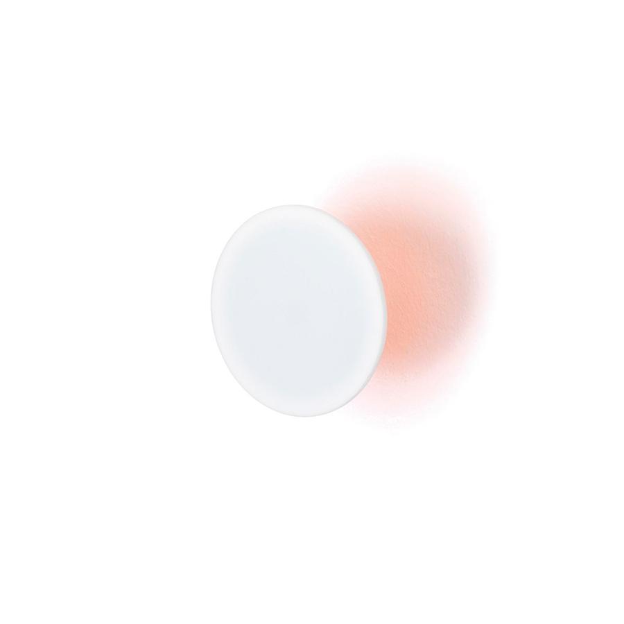 ECLIPSE Garderobenhaken Neon orange / weiß Ø 10 cm