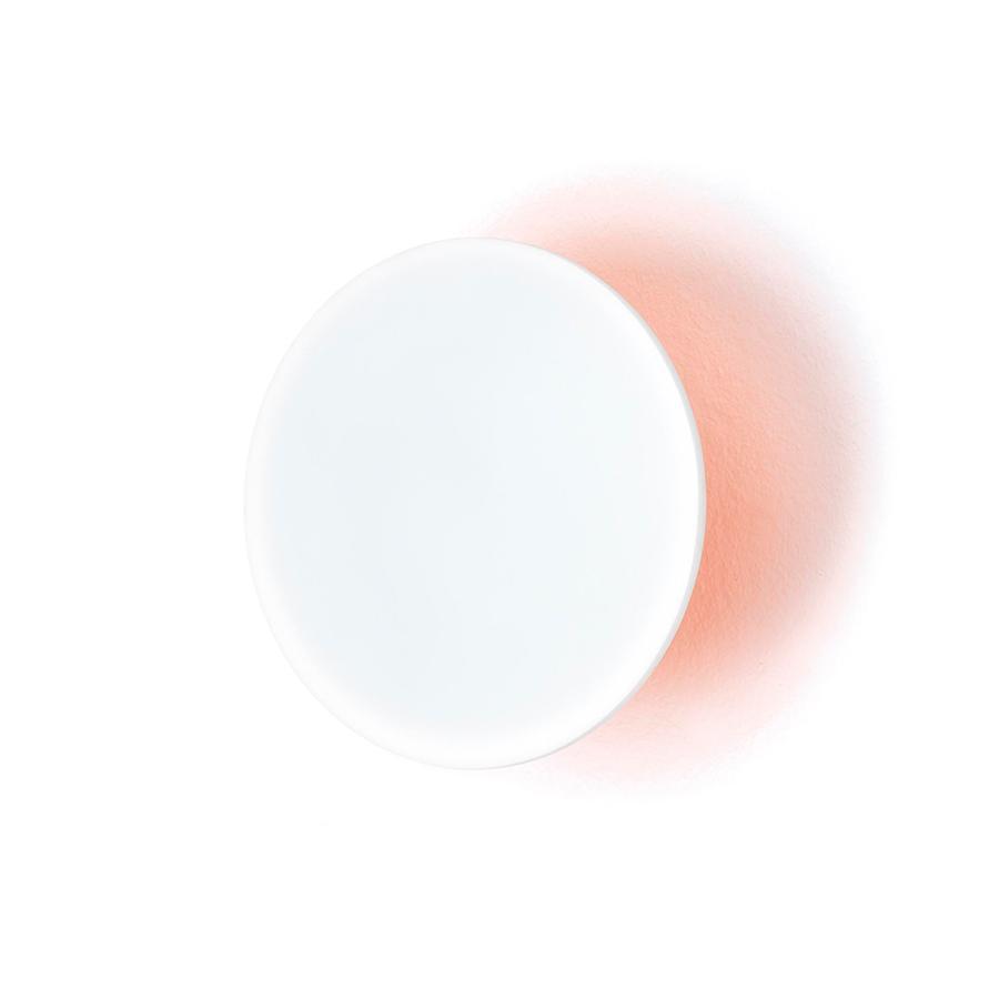 ECLIPSE Garderobenhaken Neon orange / weiß Ø 15 cm