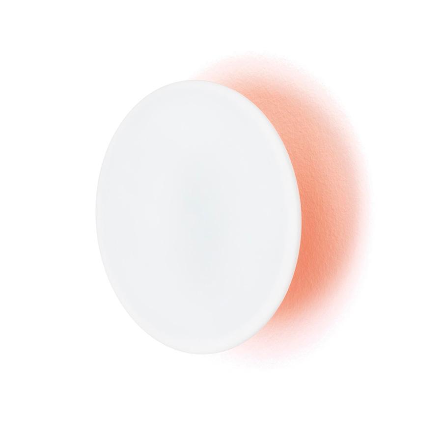 ECLIPSE Garderobenhaken Neon orange / weiß Ø 20 cm