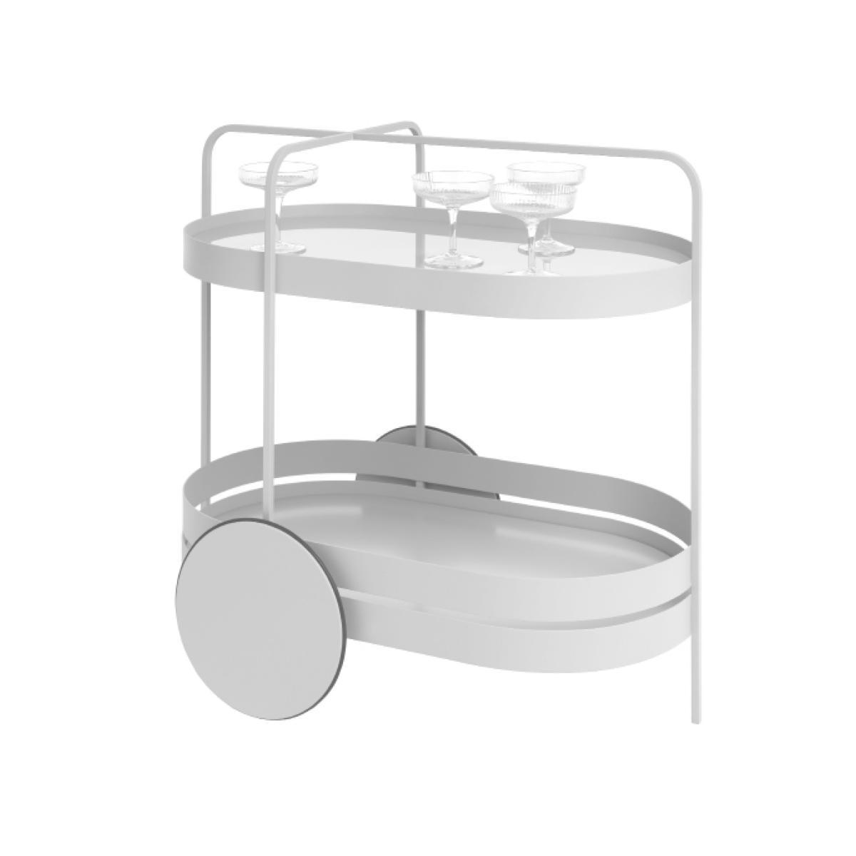 GRACE Servierwagen grau-weiß