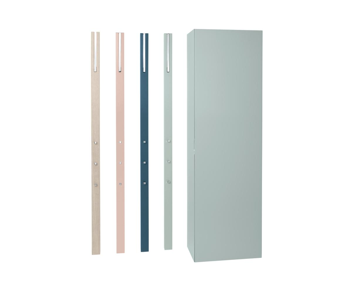 LINE Schuhschrank mit lackierter Tür und 4 LINE Garderoben