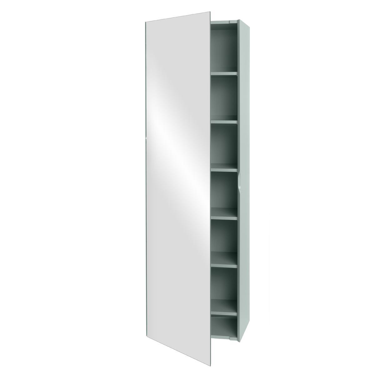 LINE Garderobenschrank mit voll verspiegelter Tür und 6 Fachböden