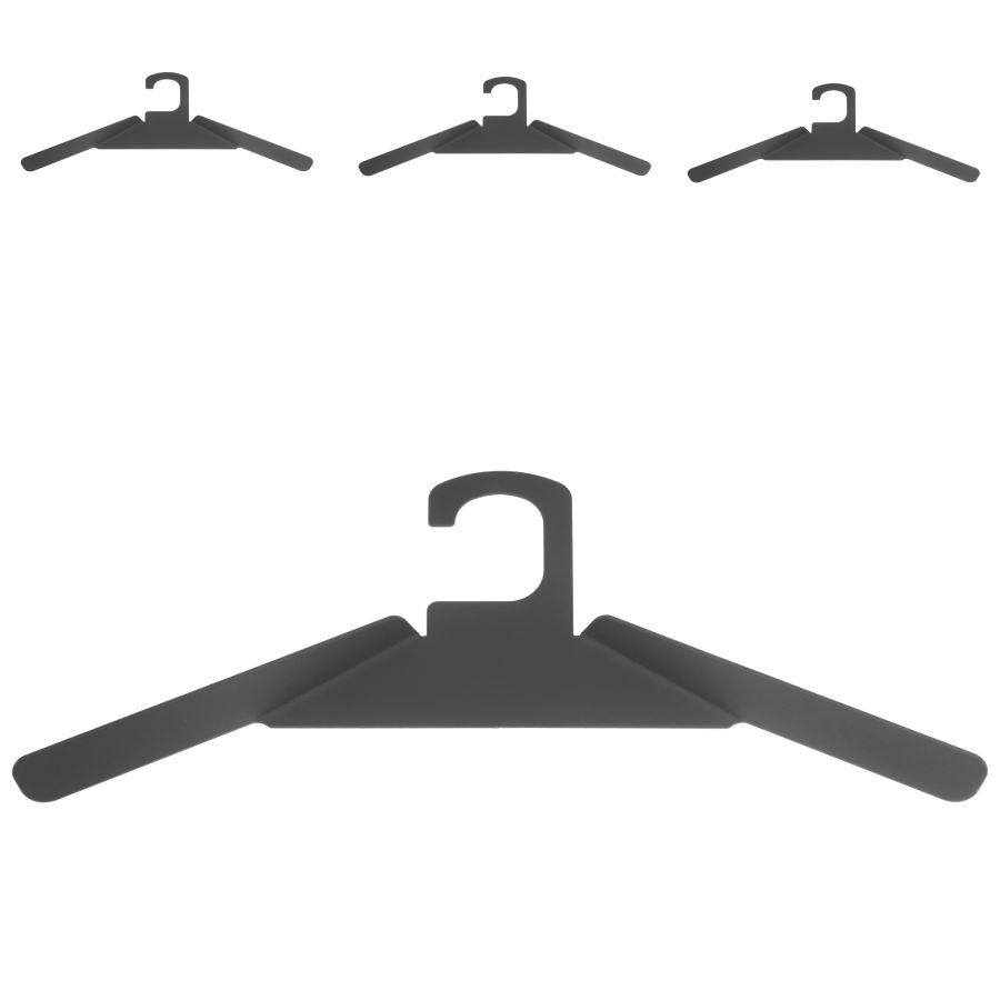 schönbuch Kleiderbügel 0200 4er-Set gepulvert schwarz
