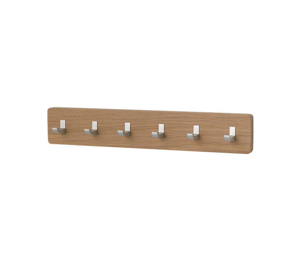 KEY BAR Schlüsselbrett 0646, Eiche, mit 6 Haken