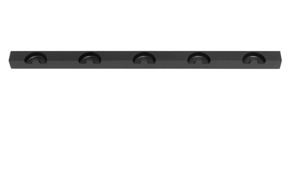 NICK Garderobenleiste von schönbuch, 85 cm breit mit 5 Garderobenhaken in schwarz lackiert