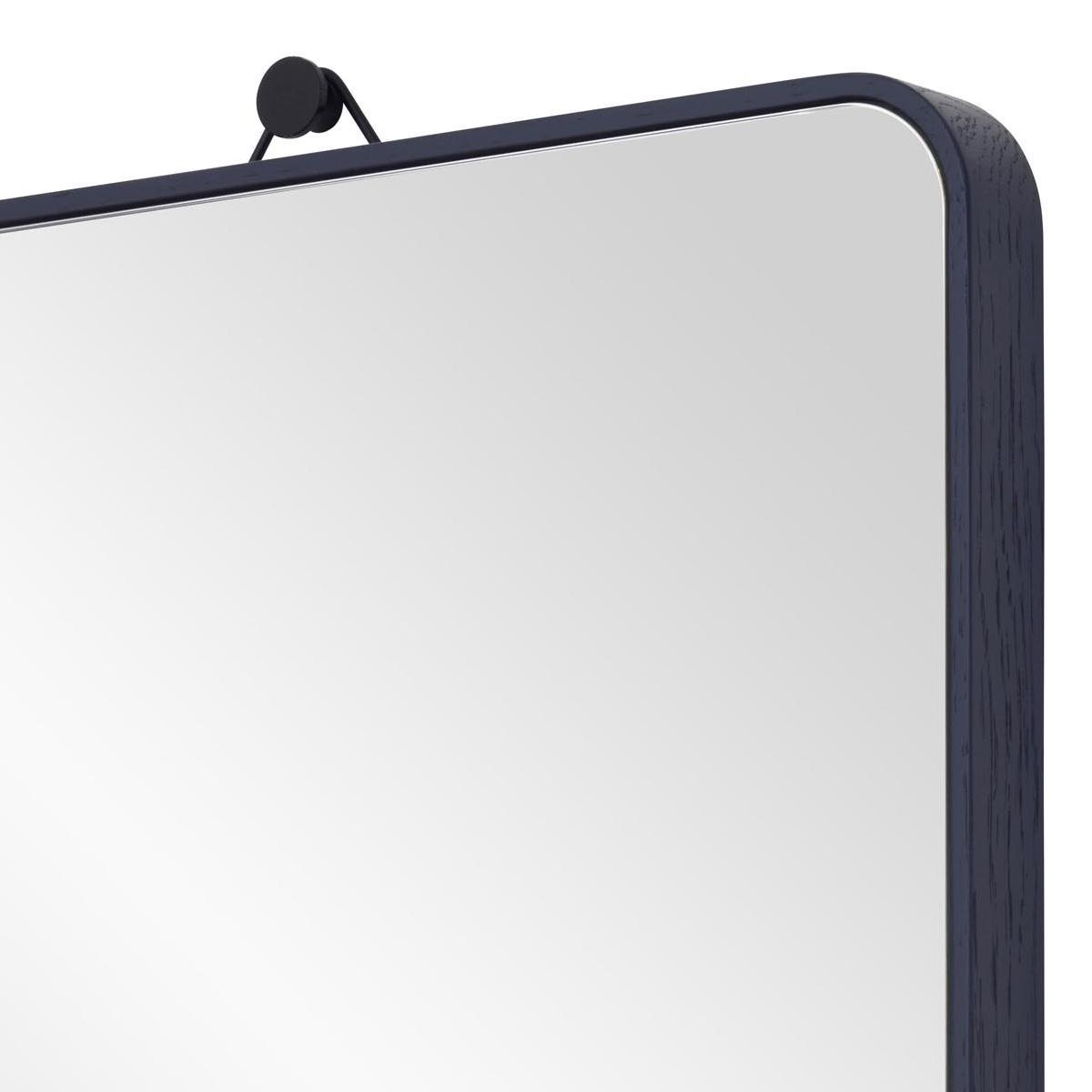 VIEW Spiegel nachblau mit gebogenen Ecken