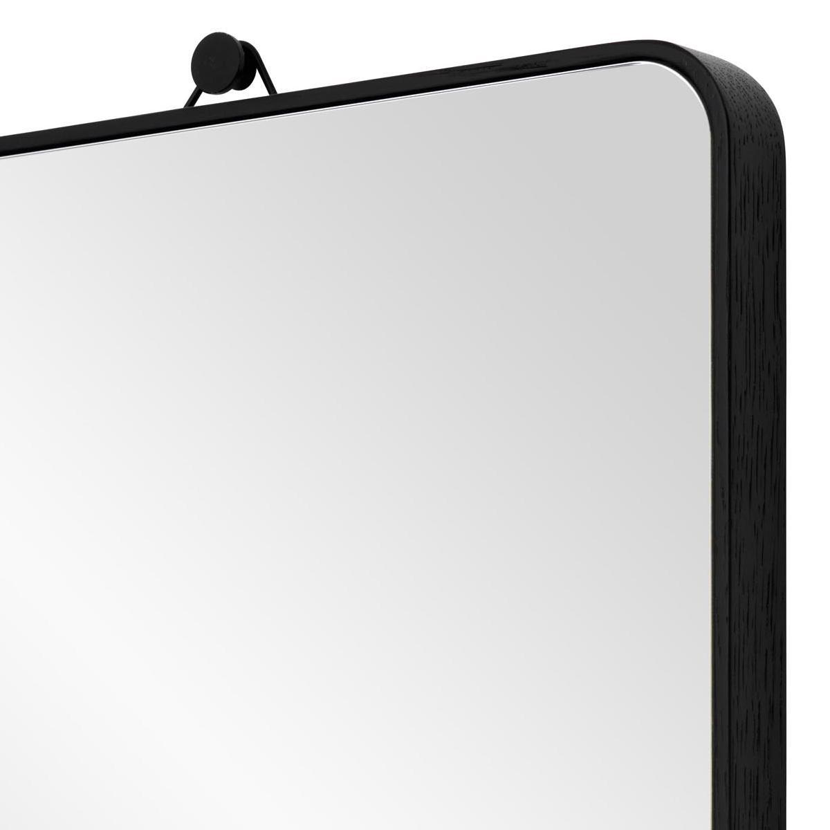 VIEW Spiegel schwarz mit gebogenen Ecken