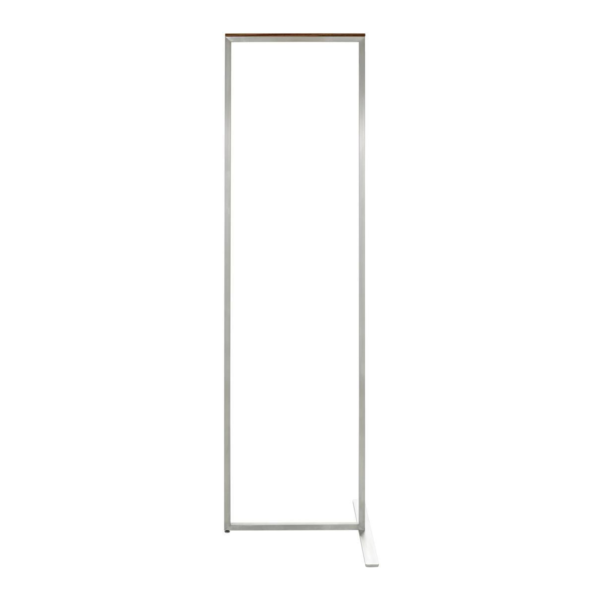 SKID Garderobenständer 45 cm, Edelstahl mit Nussbaum Auflage