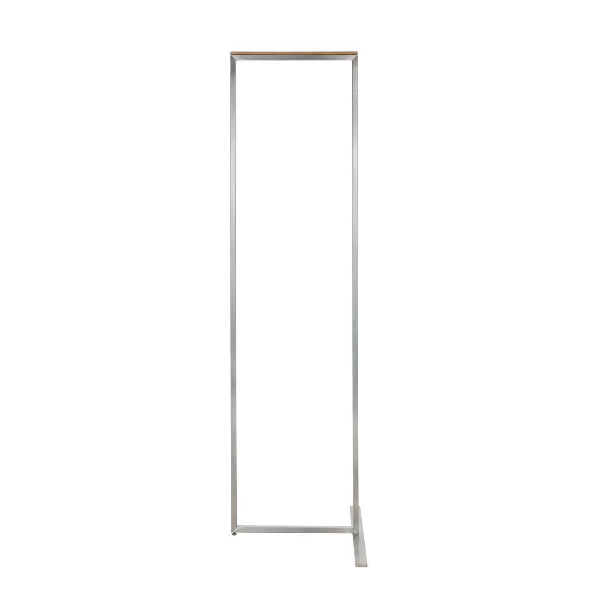 SKID Garderobenständer 47 cm, Edelstahl mit Weißeiche matt Auflage
