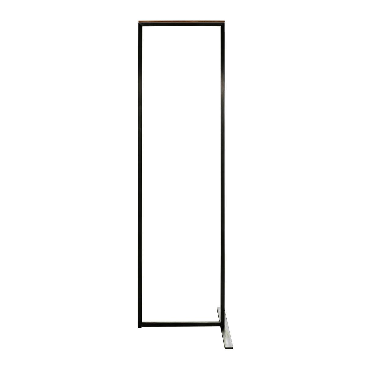 SKID Garderobenständer 45 cm, schieferschwarz mit Nussbaum Auflage