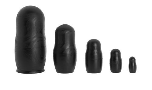 COLOUR DOLLS Holzpuppen 5 Stück, schwarz