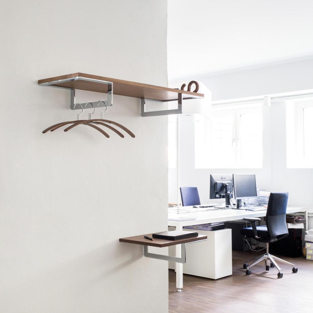 DECK Wandgarderobe 1601, 98 cm breit, mit zwei Garderobenstangen und Bügel